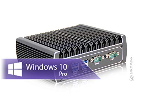 Ankermann-PC Industry PC 2xCOM 2xLAN i3 2x2,3GHz LAUTLOS Metall Case, 8GB RAM, 240GB SSD, Windows 10 Pro, WLAN Bluetooth