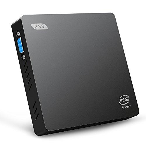 Bqeel Z83V MINI PC Windows 10 Linux Smart Mini Desktop-PC mit Intel Atom x5-Z8350 Prozessor Intel HD Graphik 400 2GB DDR3+ 32GB ROM doppelte Bildschirmdarstellung über VGA und HDMI-Videoausgang